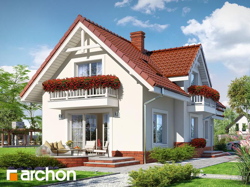 gotowy projekt Dom w łubinie widok 1