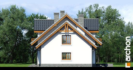Elewacja boczna projekt dom w rododendronach 6 t  265