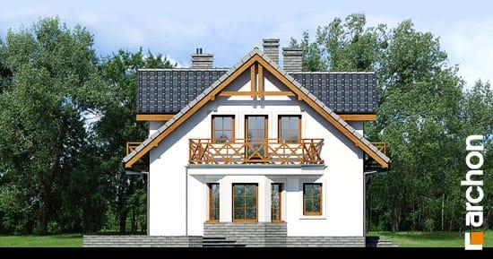 Elewacja boczna projekt dom w rododendronach 6 t  266