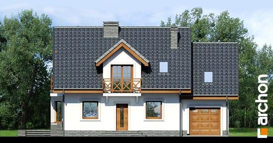 Elewacja frontowa projekt dom w rododendronach 6 t  264