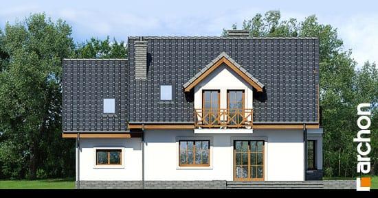 Elewacja ogrodowa projekt dom w rododendronach 6 t  267