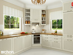 projekt Dom w rododendronach 6 (T) Wizualizacja kuchni 1 widok 1