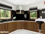 projekt Dom w rododendronach 6 (T) Wizualizacja kuchni 2 widok 2
