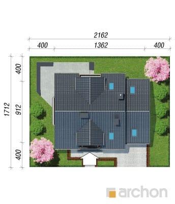projekt Dom w rododendronach 6 (T) sytuacja