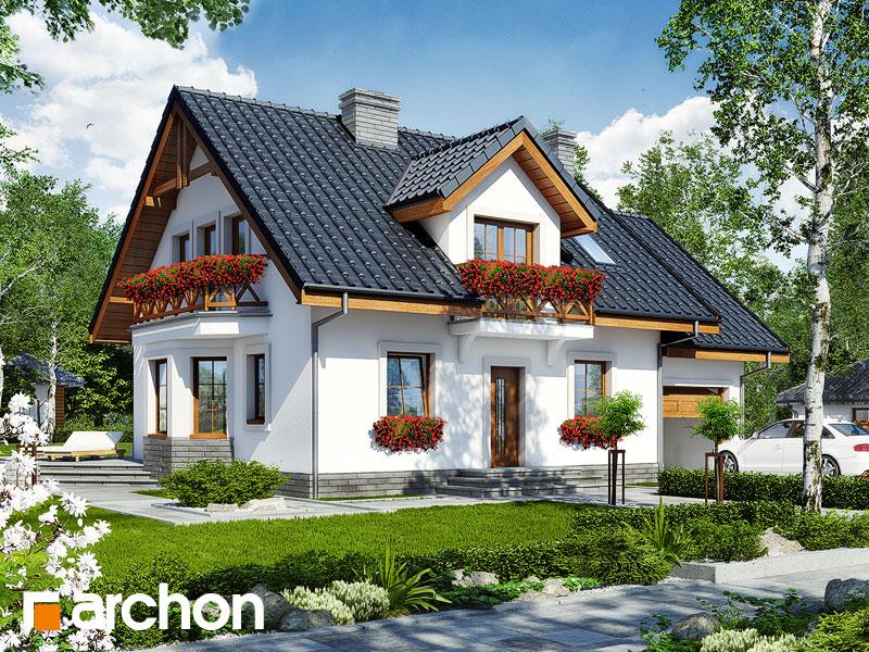 gotowy projekt Dom w rododendronach 6 (T) widok 1