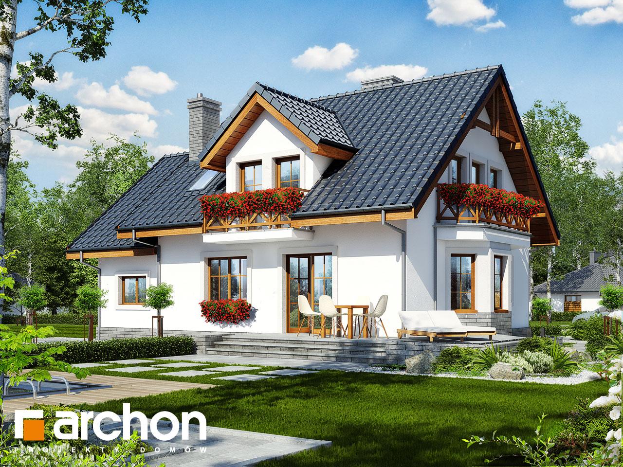 projekt domu dom w rododendronach 6 t archon. Black Bedroom Furniture Sets. Home Design Ideas