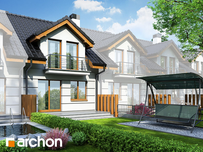 gotowy projekt Dom pod miłorzębem widok 1