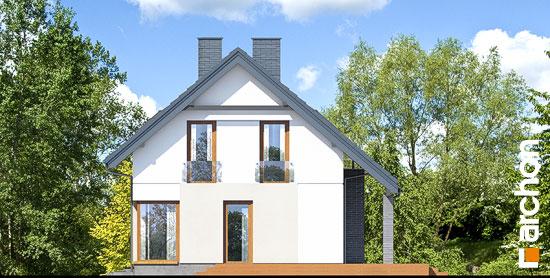 Elewacja boczna projekt dom w cytryncach p  265