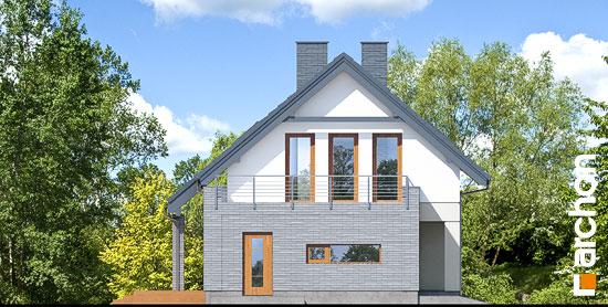 Elewacja boczna projekt dom w cytryncach p  266