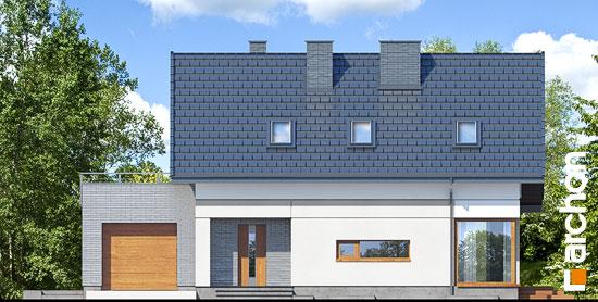 Elewacja frontowa projekt dom w cytryncach p  264