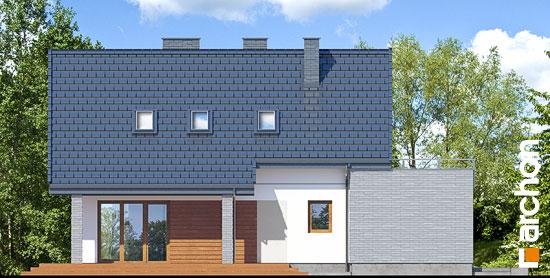 Elewacja ogrodowa projekt dom w cytryncach p  267