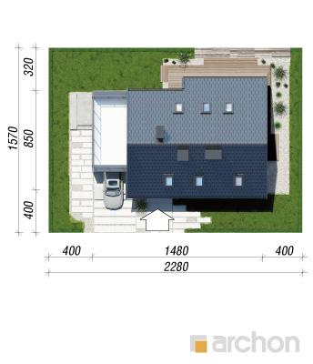 projekt Dom w cytryńcach (P) sytuacja