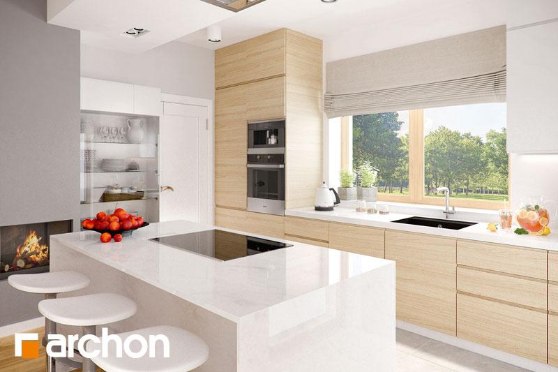 Projekt domu Dom w jabłonkach 3  ARCHON+ -> Kuchnia Letnia Z Garażem