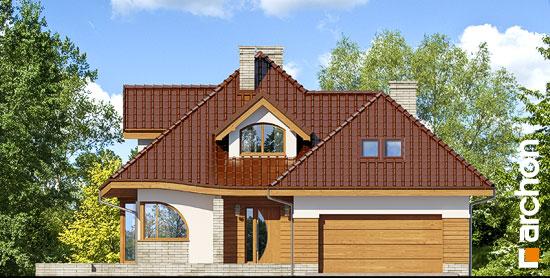 Elewacja frontowa projekt dom w zefirantach 2 g2  264