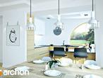 projekt Dom w zefirantach 2 (G2) Wizualizacja kuchni 1 widok 1