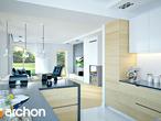 projekt Dom w zefirantach 2 (G2) Wizualizacja kuchni 1 widok 2