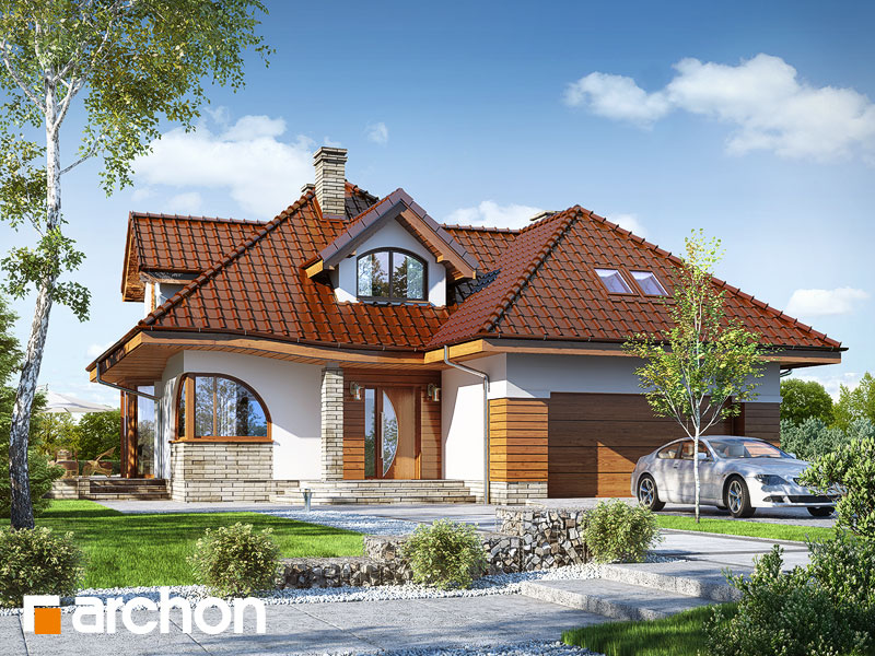 projekt Dom w zefirantach 2 (G2) widok 1