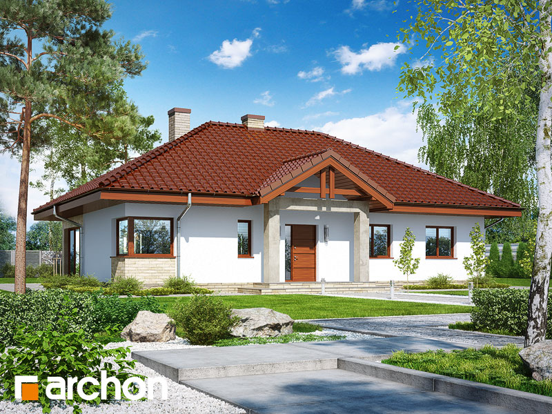 gotowy projekt Dom w santolinach 2 widok 1
