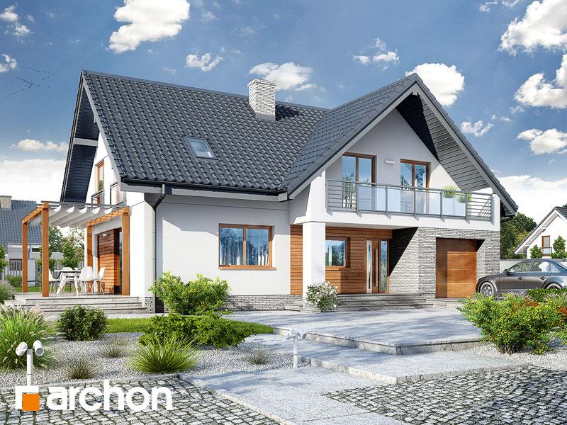 gotowy projekt Dom w tarninach widok 1