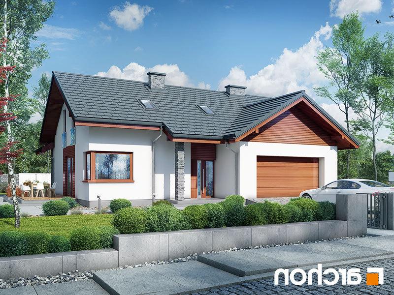 Lustrzane odbicie 2 projekt dom w pierwiosnkach 2 g2  290lo