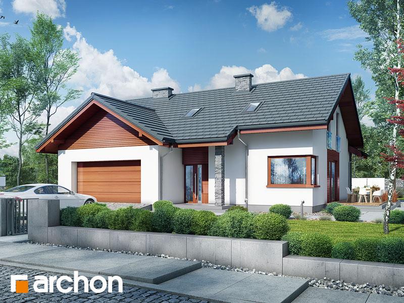 Widok 2 projekt dom w pierwiosnkach 2 g2  290