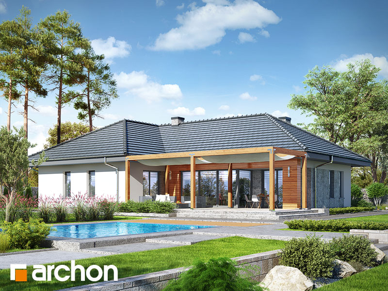 gotowy projekt Dom w ismenach 2 (G2) widok 2