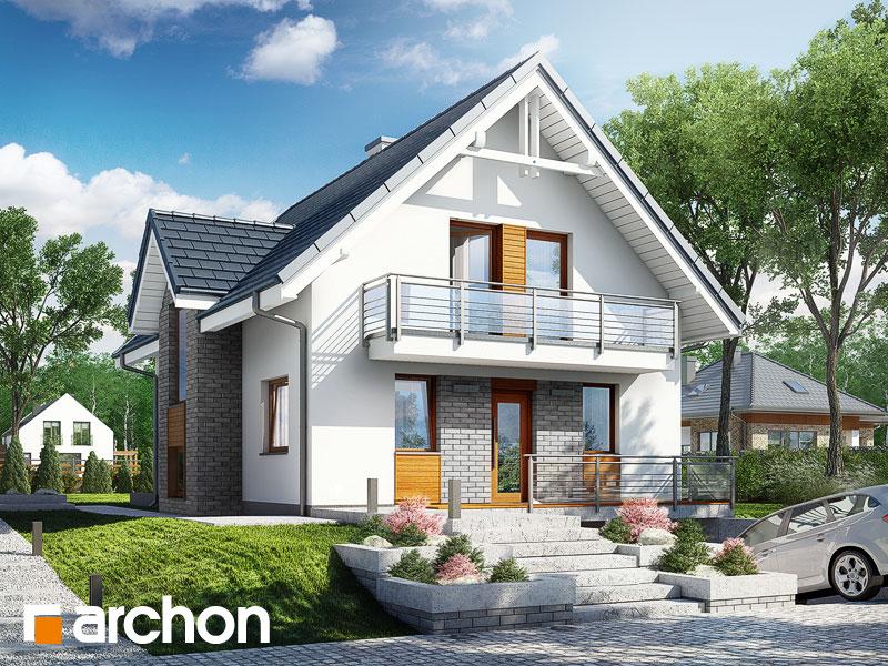 projekt Dom w żarnowcach (N) widok 1