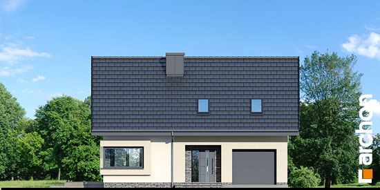 Elewacja frontowa projekt dom w zdrojowkach  264