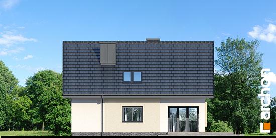 Elewacja ogrodowa projekt dom w zdrojowkach  267