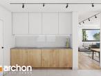 projekt Dom w zdrojówkach Wizualizacja kuchni 1 widok 2