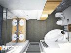 projekt Dom w zdrojówkach Wizualizacja łazienki (wizualizacja 3 widok 4)