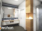 projekt Dom w zdrojówkach Wizualizacja łazienki (wizualizacja 3 widok 3)