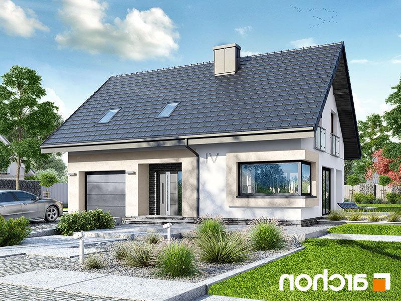 Lustrzane odbicie 1 projekt dom w zdrojowkach  289lo