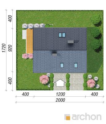 projekt Dom w zdrojówkach sytuacja