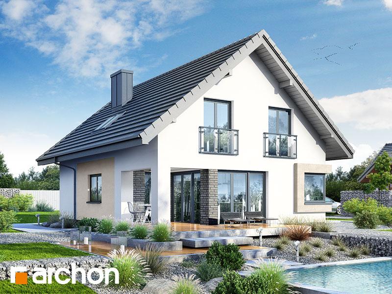 Widok 2 projekt dom w zdrojowkach  290