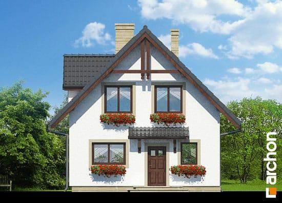 Elewacja frontowa projekt dom na wzgorzu ver 2  264