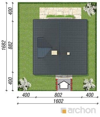 projekt Dom na wzgórzu sytuacja