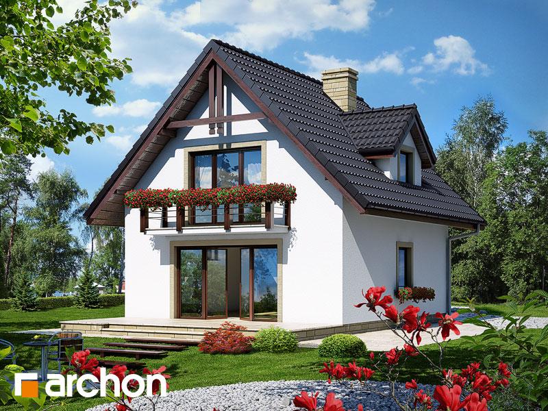 gotowy projekt Dom na wzgórzu widok 1