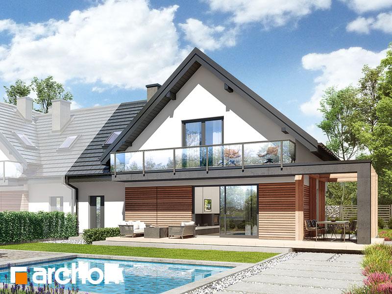 gotowy projekt Dom w faworytkach 2 (B) widok 2