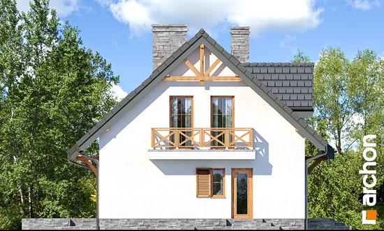 Elewacja boczna projekt dom w poziomkach 7 p  265