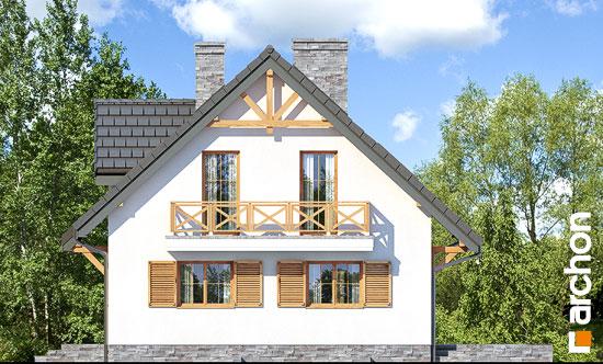 Elewacja boczna projekt dom w poziomkach 7 p  266