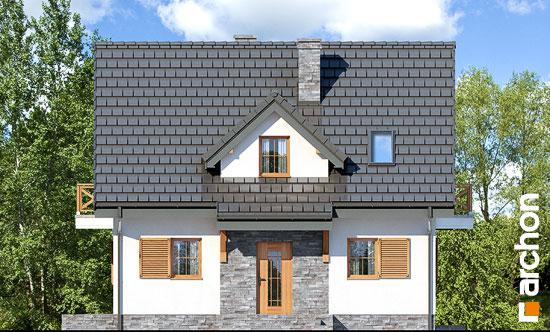 Elewacja frontowa projekt dom w poziomkach 7 p  264