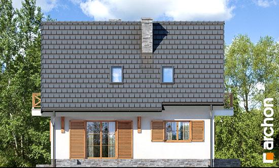 Elewacja ogrodowa projekt dom w poziomkach 7 p  267