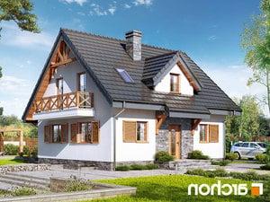 projekt Dom w poziomkach 7 (P) lustrzane odbicie 1