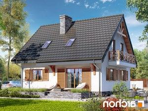 projekt Dom w poziomkach 7 (P) lustrzane odbicie 2