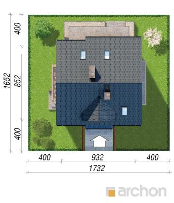 projekt Dom w poziomkach 7 (P) sytuacja