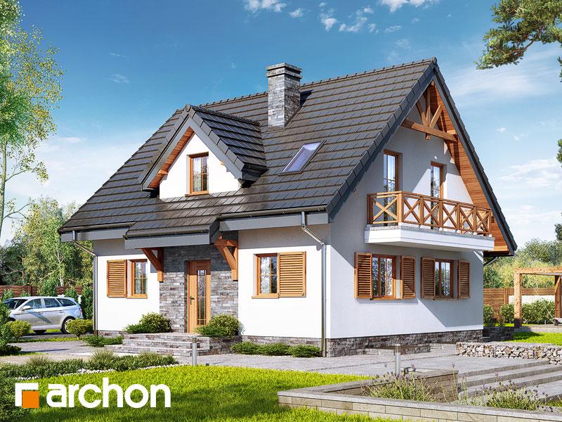 gotowy projekt Dom w poziomkach 7 (P) widok 1