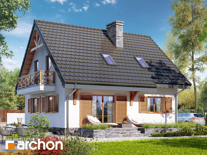 gotowy projekt Dom w poziomkach 7 (P) widok 2
