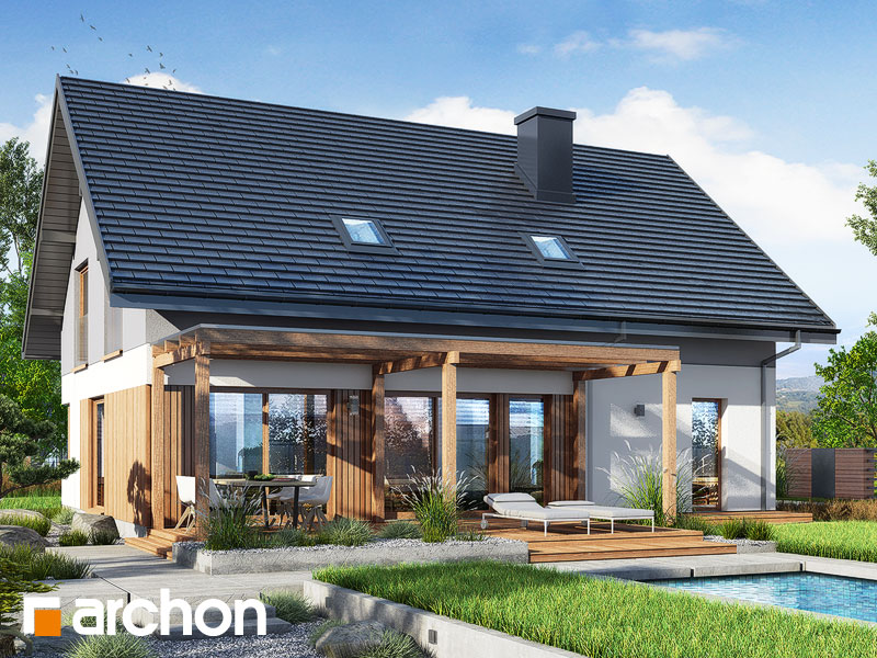 gotowy projekt Dom w złociszkach (G2) widok 2