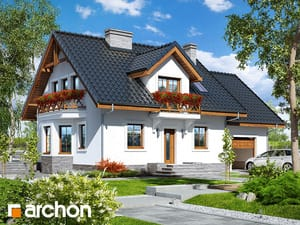 gotowy projekt Dom w rododendronach 19 (P)